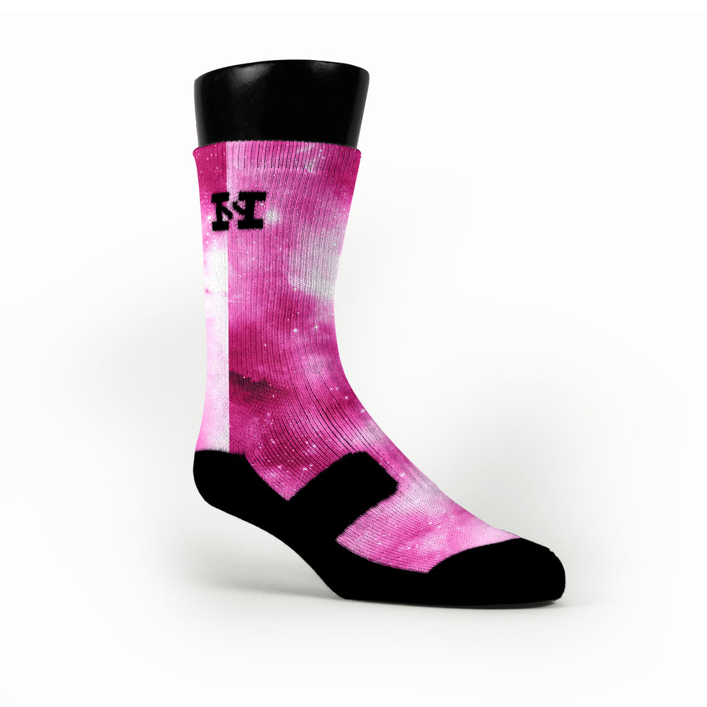 Pink Galaxy Custom HoopSwagg Socks