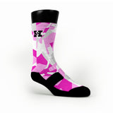 Pink Hardwood Camo Custom HoopSwagg Socks