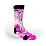 Pink Hardwood Camo Custom Notion Socks