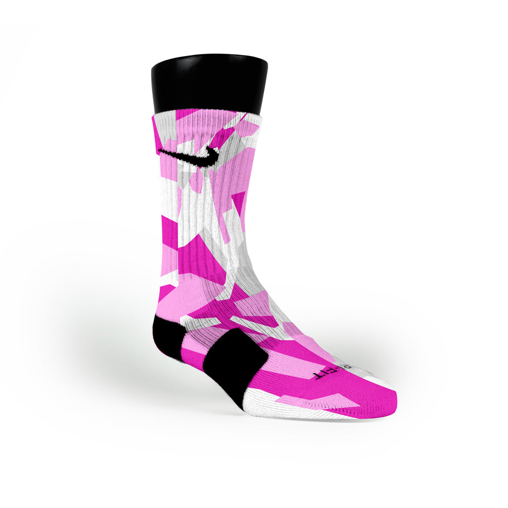 Pink Hardwood Camo Custom Nike Elite Socks