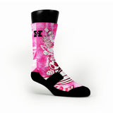Pink Moon Man Custom HoopSwagg Socks
