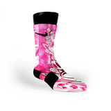 Pink Moon Man Custom Nike Elite Socks