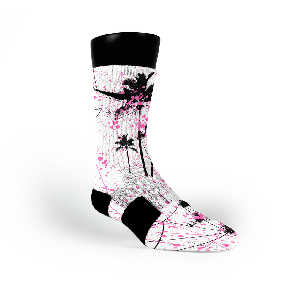 Pink Palms Custom Nike Elite Socks
