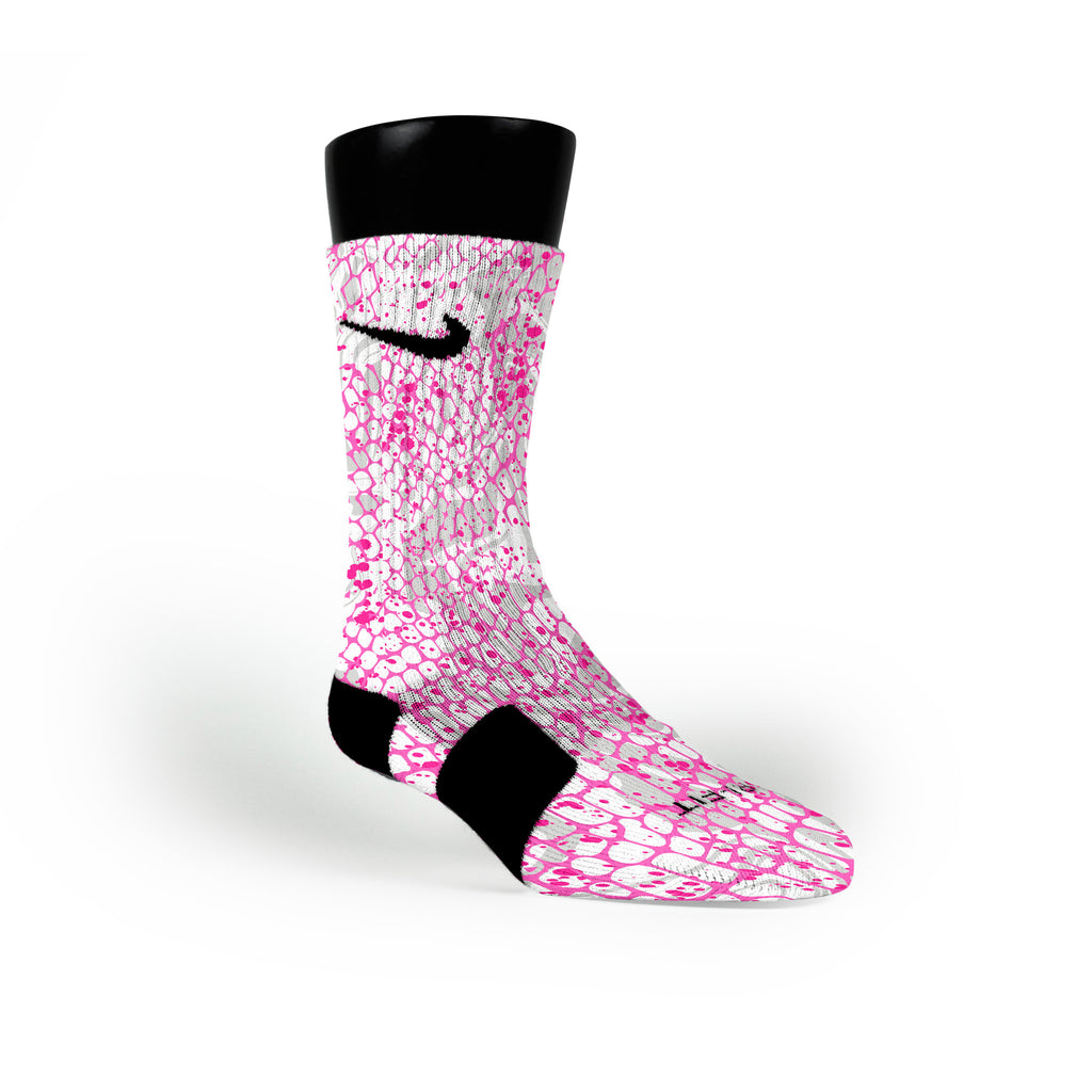 Pink Skin Custom Nike Elite Socks