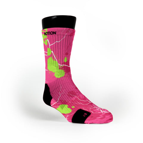 Pink Splats Custom Notion Socks