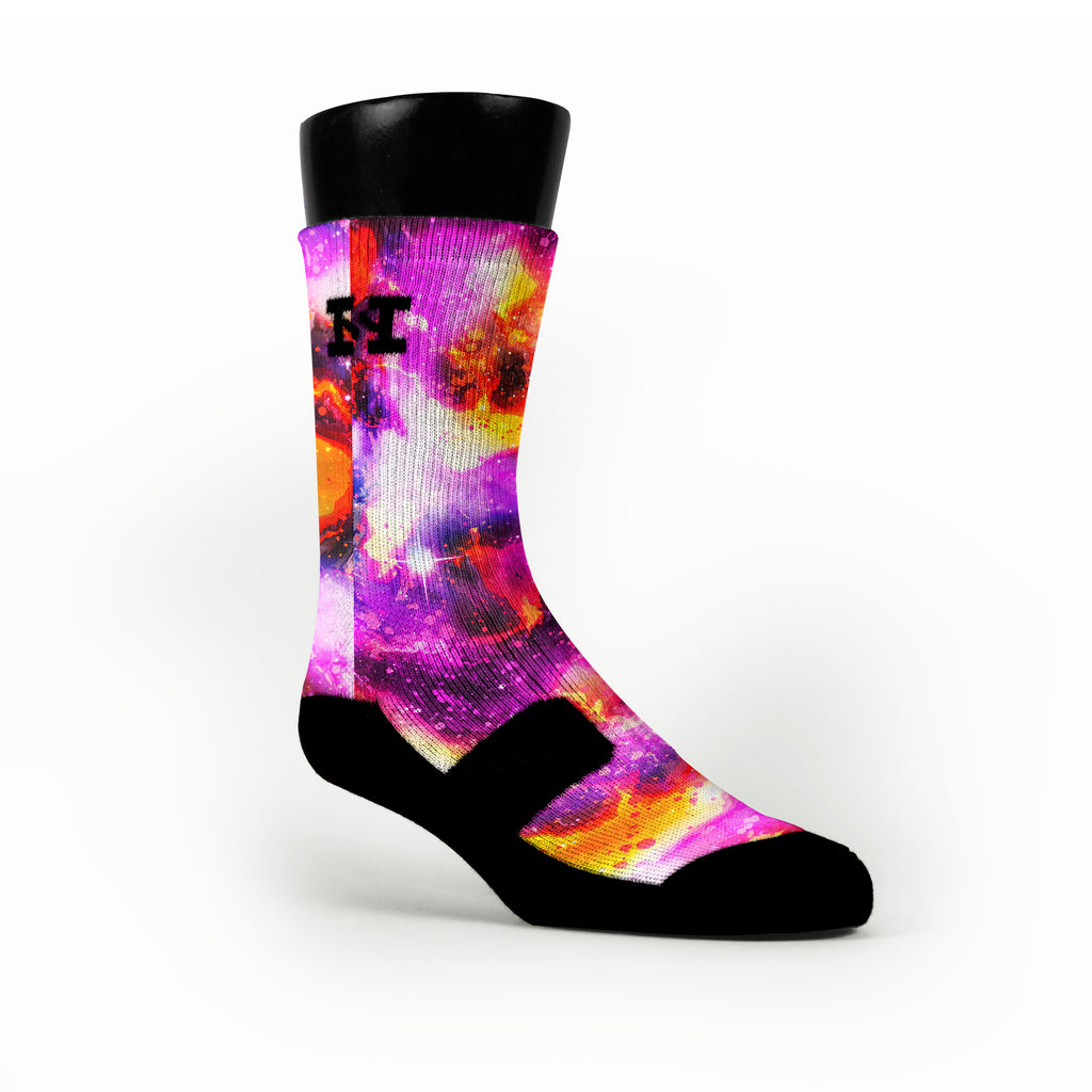 Planet Raygun Galaxies Custom HoopSwagg Socks