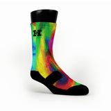 Psycho Rainbow Custom HoopSwagg Socks