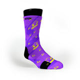 Purple Lightning Bolt Custom Notion Socks