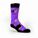 Purple Lightning Bolt Custom HoopSwagg Socks