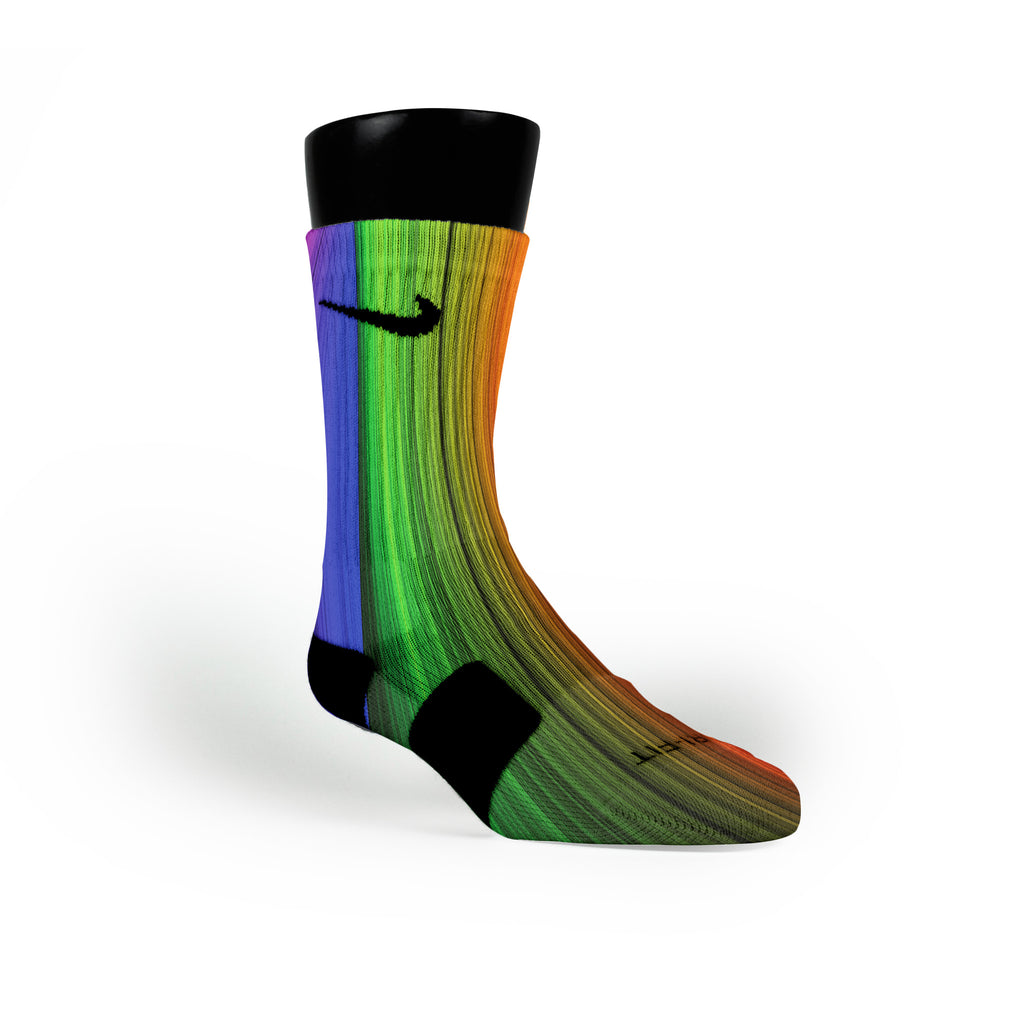 Rainbow Streaks Custom Nike Elite Socks