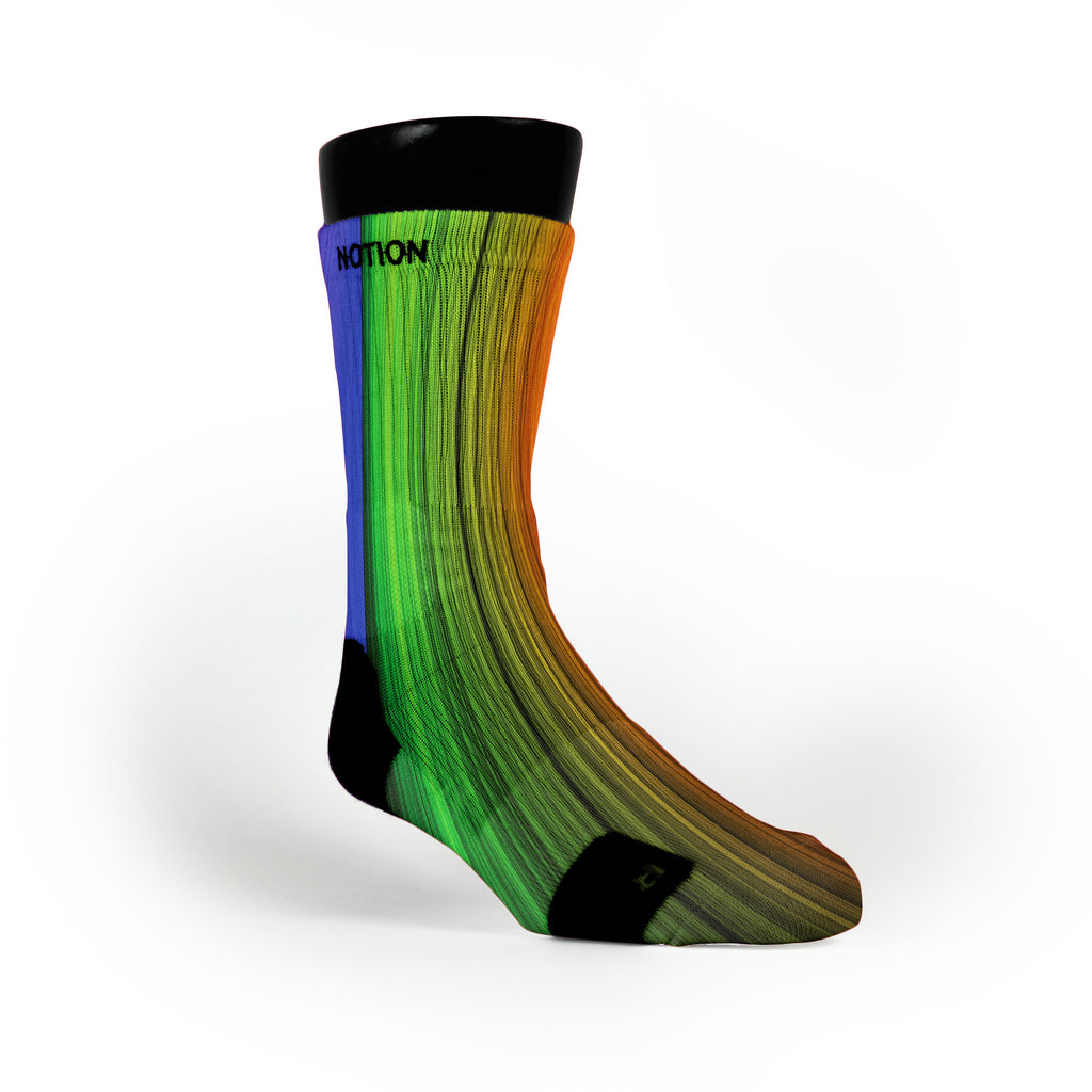 Rainbow Streaks Custom Notion Socks