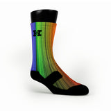 Rainbow Streaks Custom HoopSwagg Socks