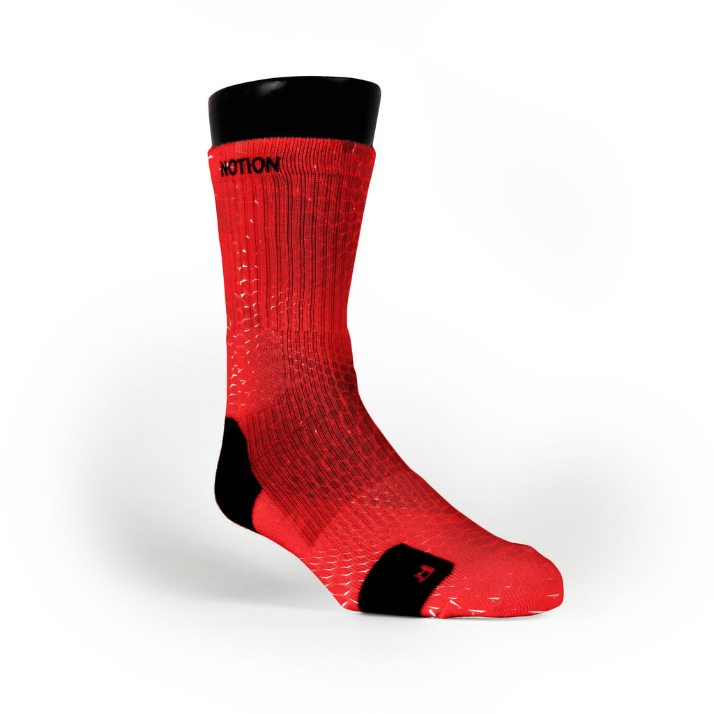 Red Gems Custom Notion Socks