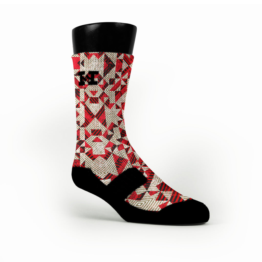 Red Grooves Custom HoopSwagg Socks
