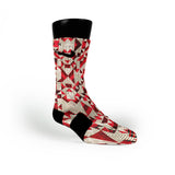 Red Grooves Custom Nike Elite Socks