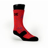 Red Space Invaders Custom HoopSwagg Socks