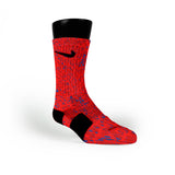 Red Space Invaders Custom Nike Elite Socks
