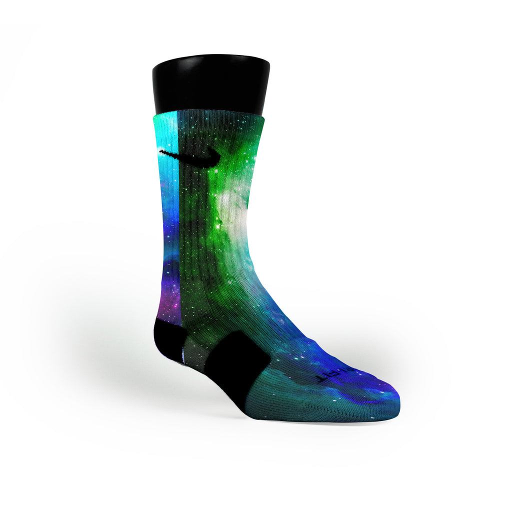 Remix Galaxy Custom Nike Elite Socks