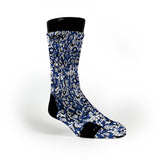 Royal Blue Snakeskin Custom Notion Socks