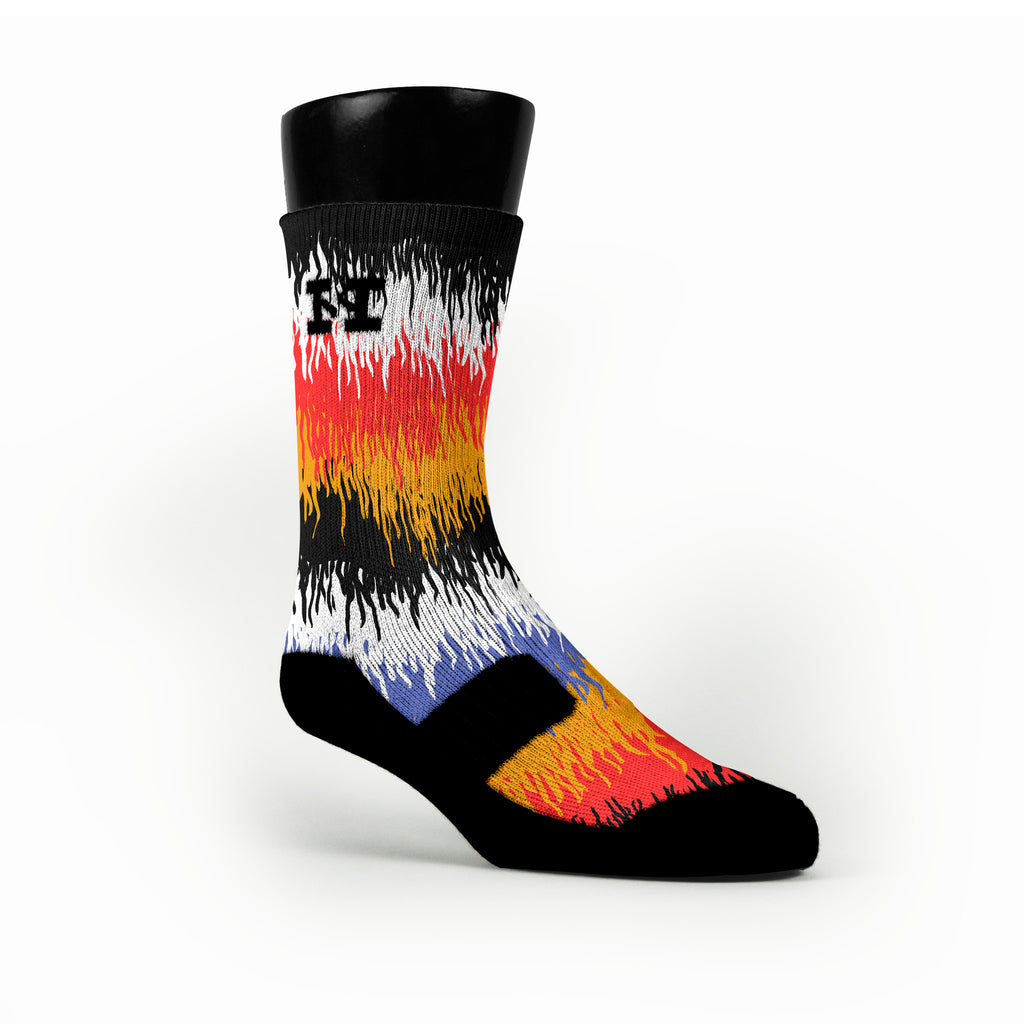 Scribbles Custom HoopSwagg Socks