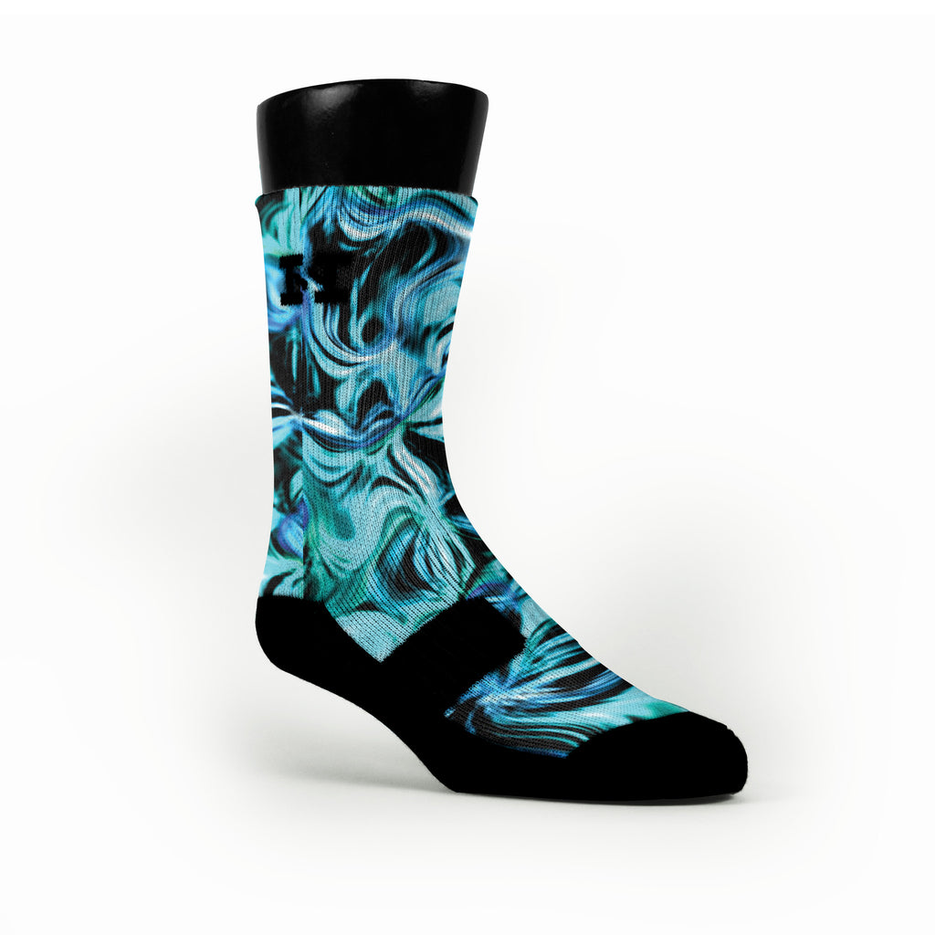 Sea Swirl Custom HoopSwagg Socks