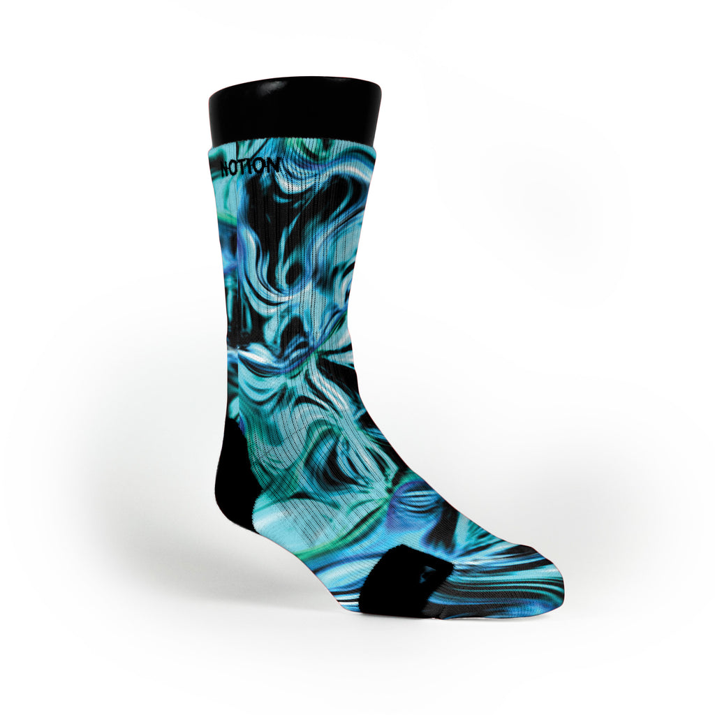 Sea Swirl Custom Notion Socks