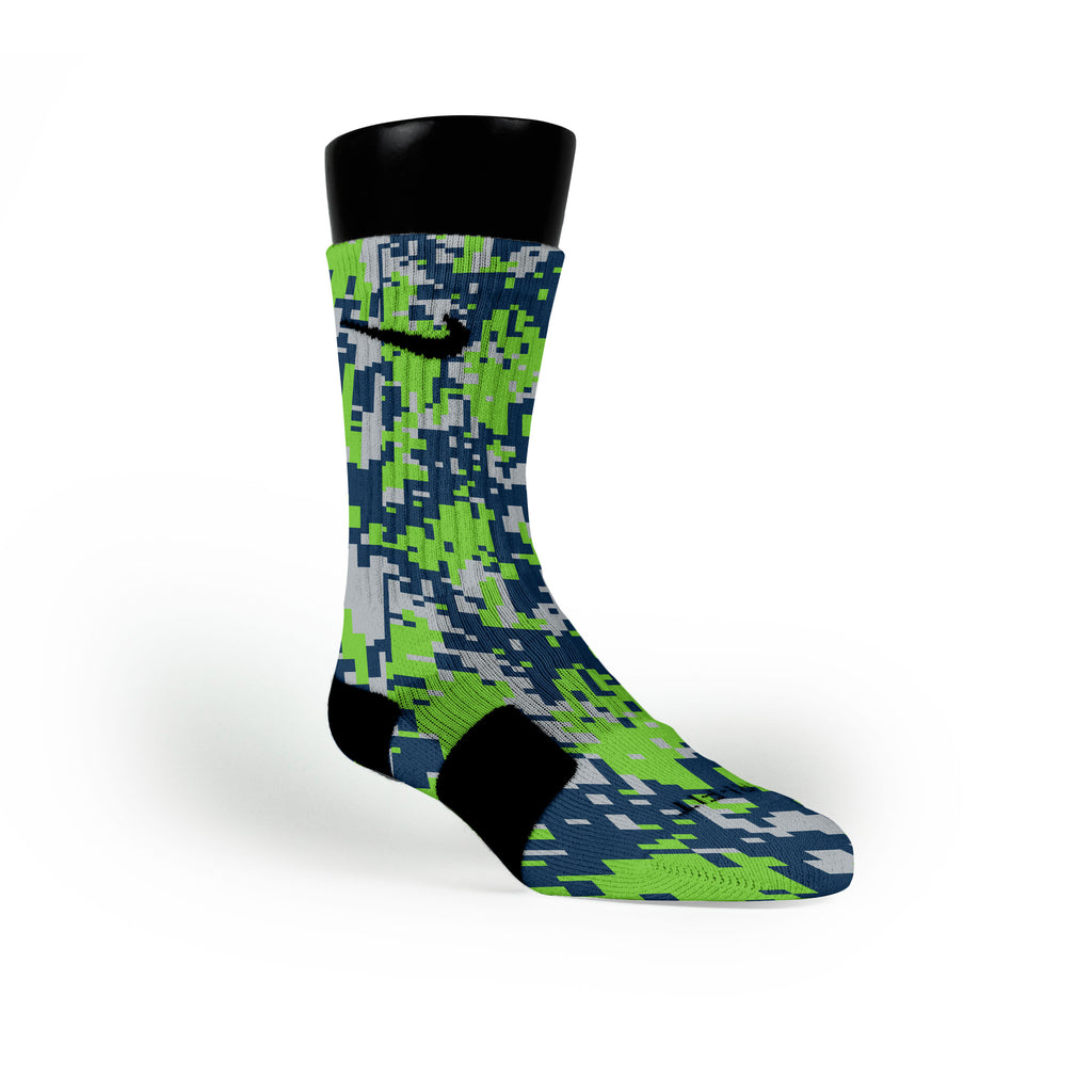 Seattle Digital Camo Custom Nike Elite Socks