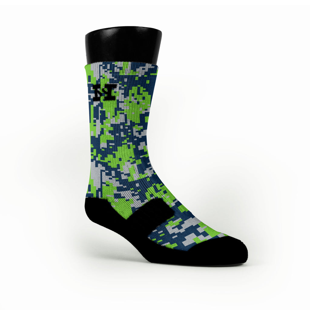Seattle Digital Camo Custom HoopSwagg Socks