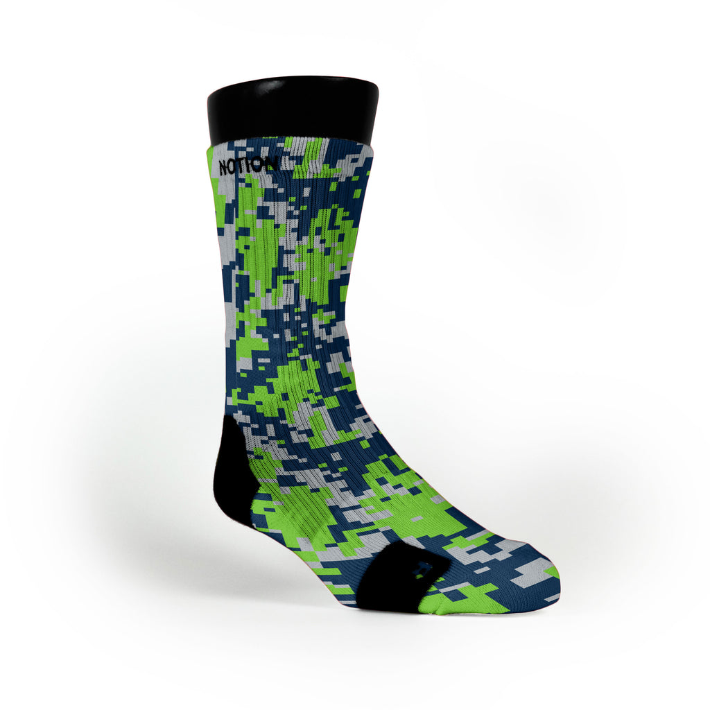 Seattle Digital Camo Custom Notion Socks