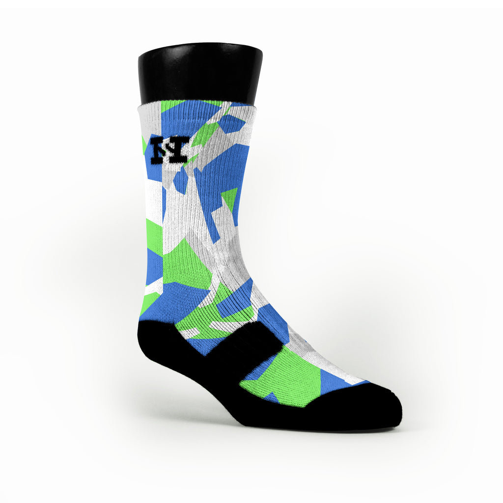 Seattle Hardwood Camo Custom HoopSwagg Socks
