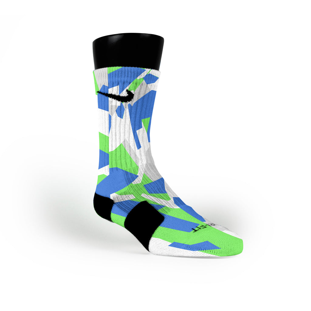 Seattle Hardwood Camo Custom Nike Elite Socks
