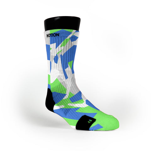 Seattle Hardwood Camo Custom Notion Socks