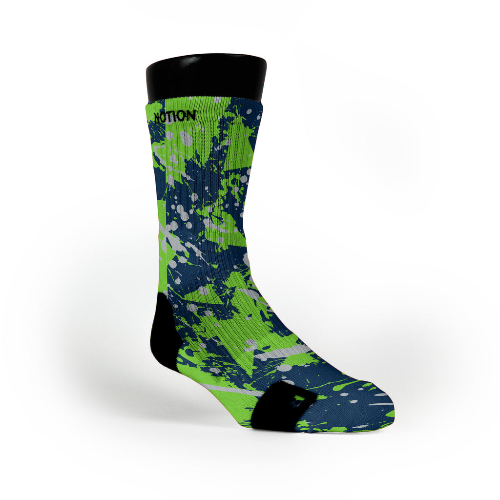 Seattle Splatter Custom Notion Socks