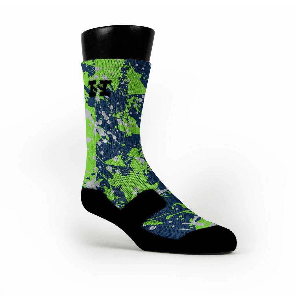 Seattle Splatter Custom HoopSwagg Socks