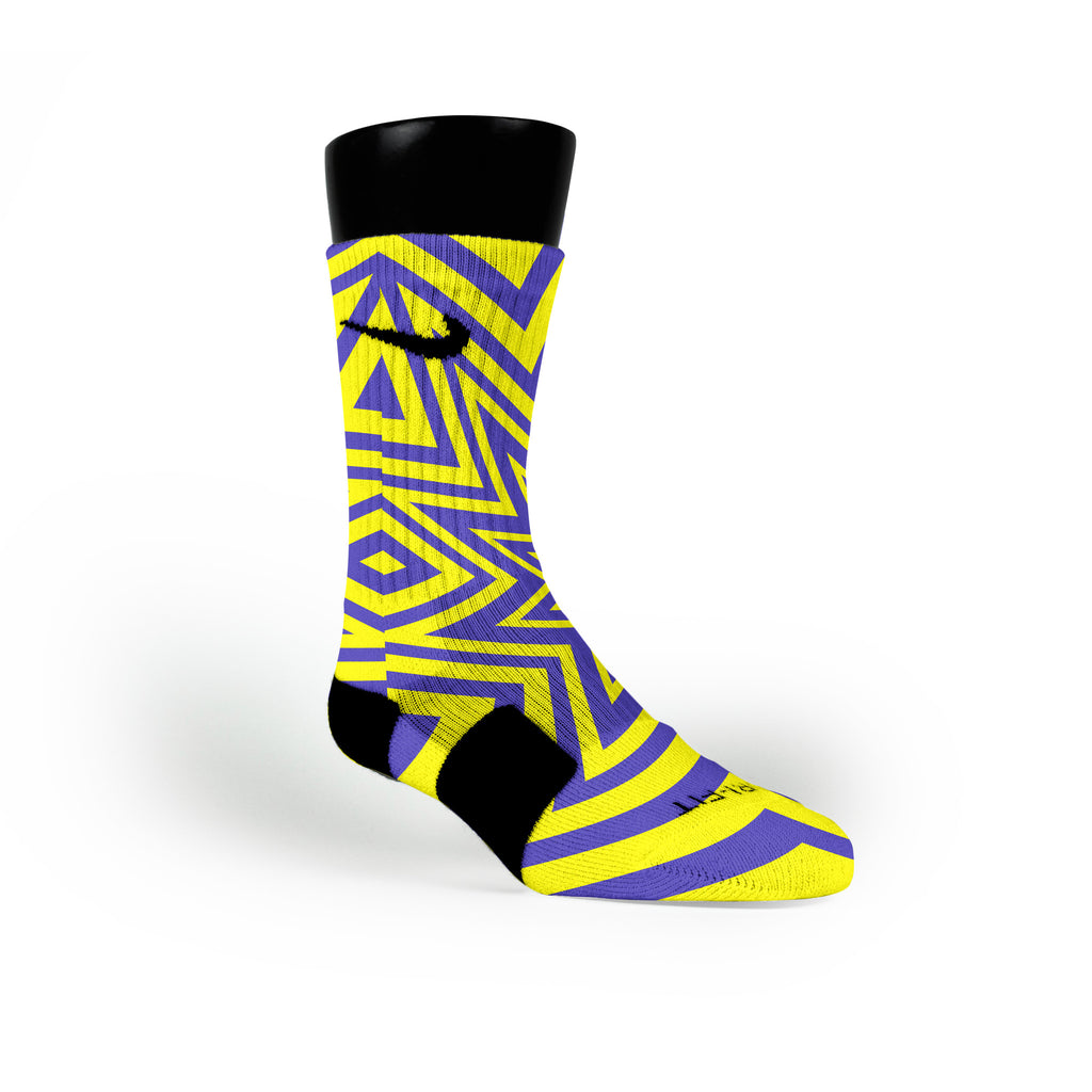 Shazam Custom Nike Elite Socks