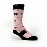 Silky Hearts Custom HoopSwagg Socks