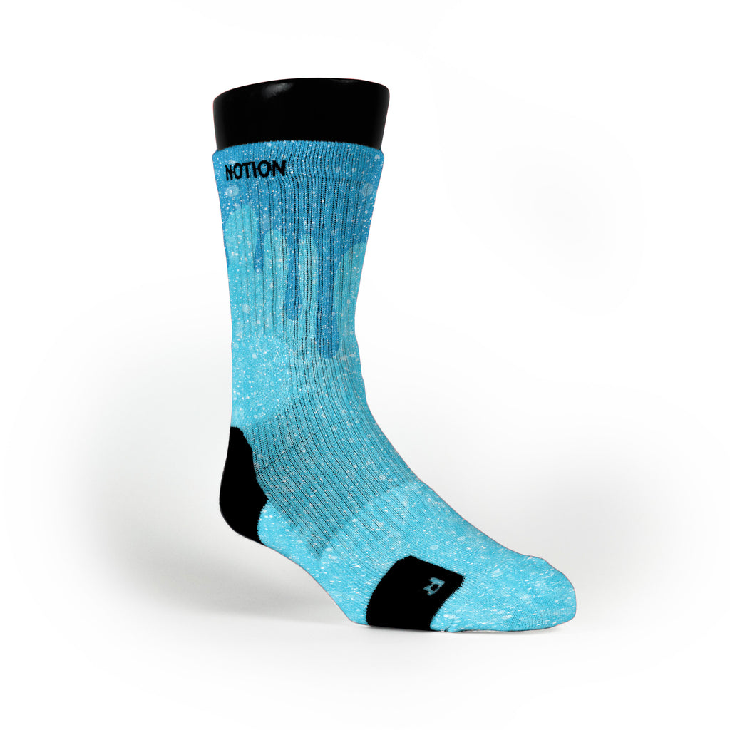 Snow Slopes Custom Notion Socks