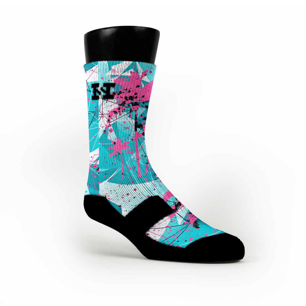 South Beach Crystals Custom HoopSwagg Socks
