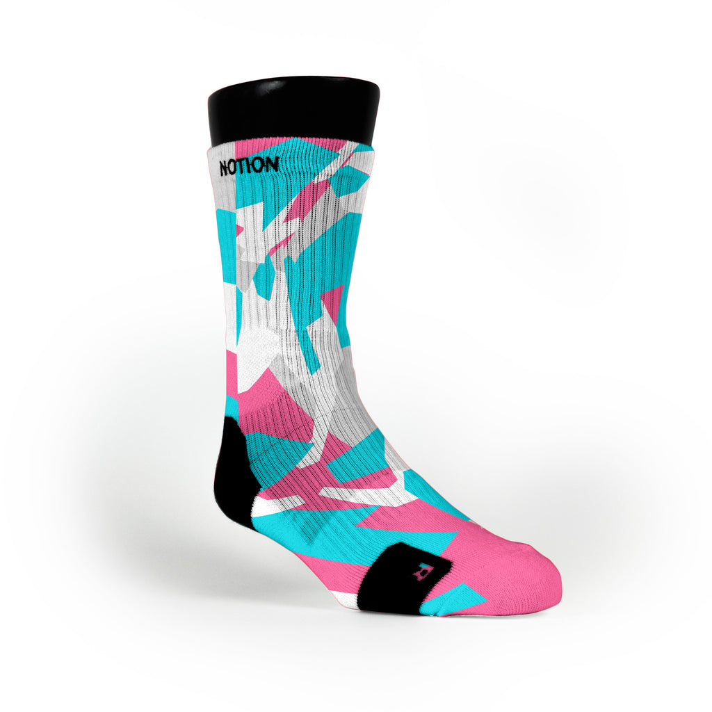 South Beach Hardwood Camo Custom Notion Socks