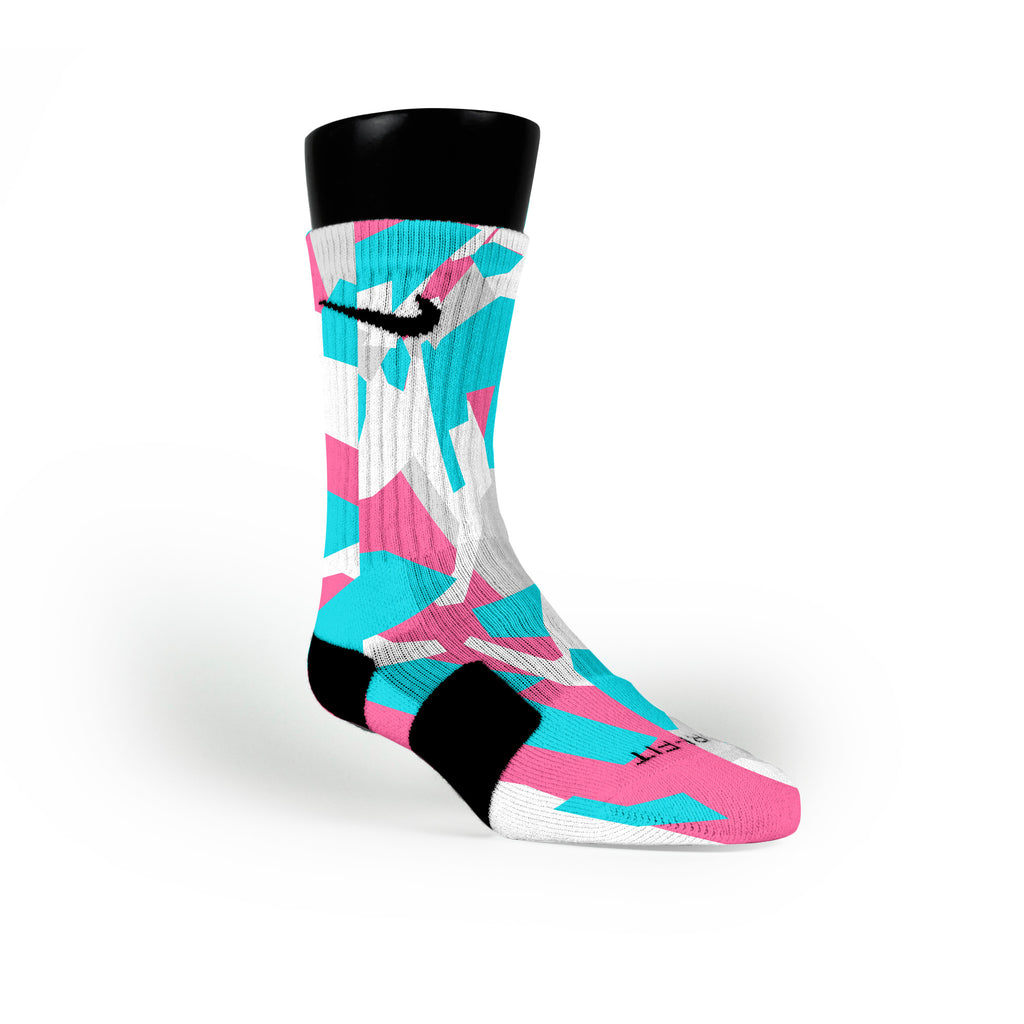South Beach Hardwood Camo Custom Nike Elite Socks
