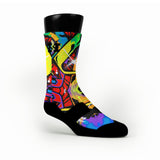 Space Graffiti Custom HoopSwagg Socks