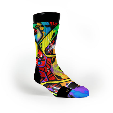 Space Graffiti Custom Notion Socks