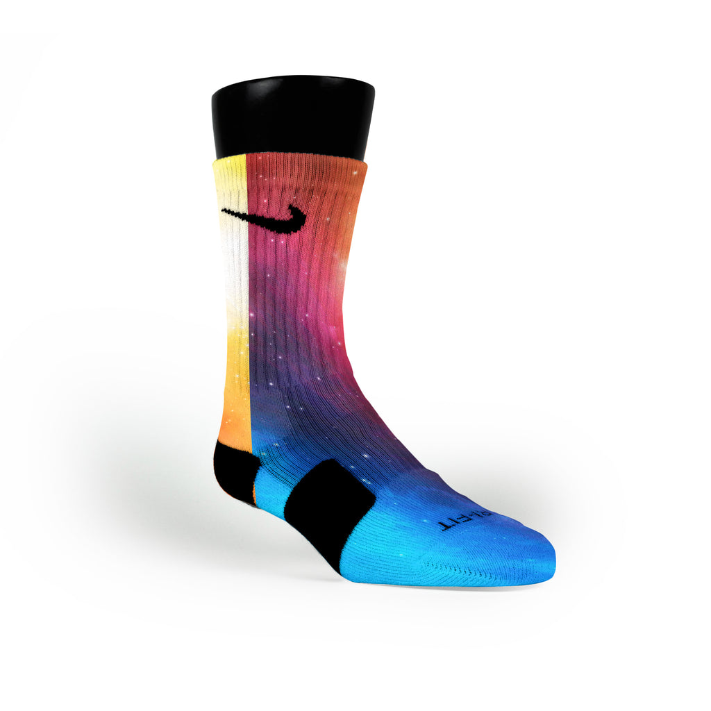 Spectrum Galaxy Custom Nike Elite Socks