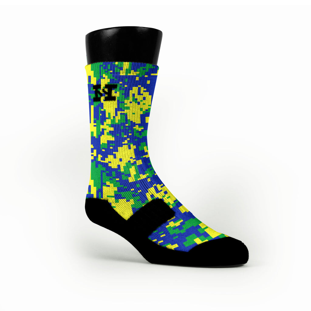 Sprite Digital Camo Custom HoopSwagg Socks