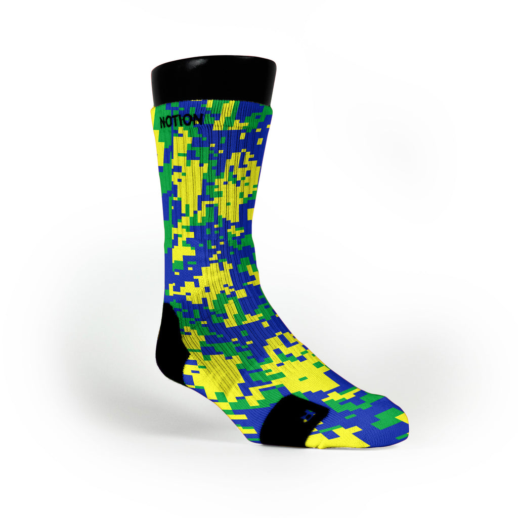 Sprite Digital Camo Custom Notion Socks