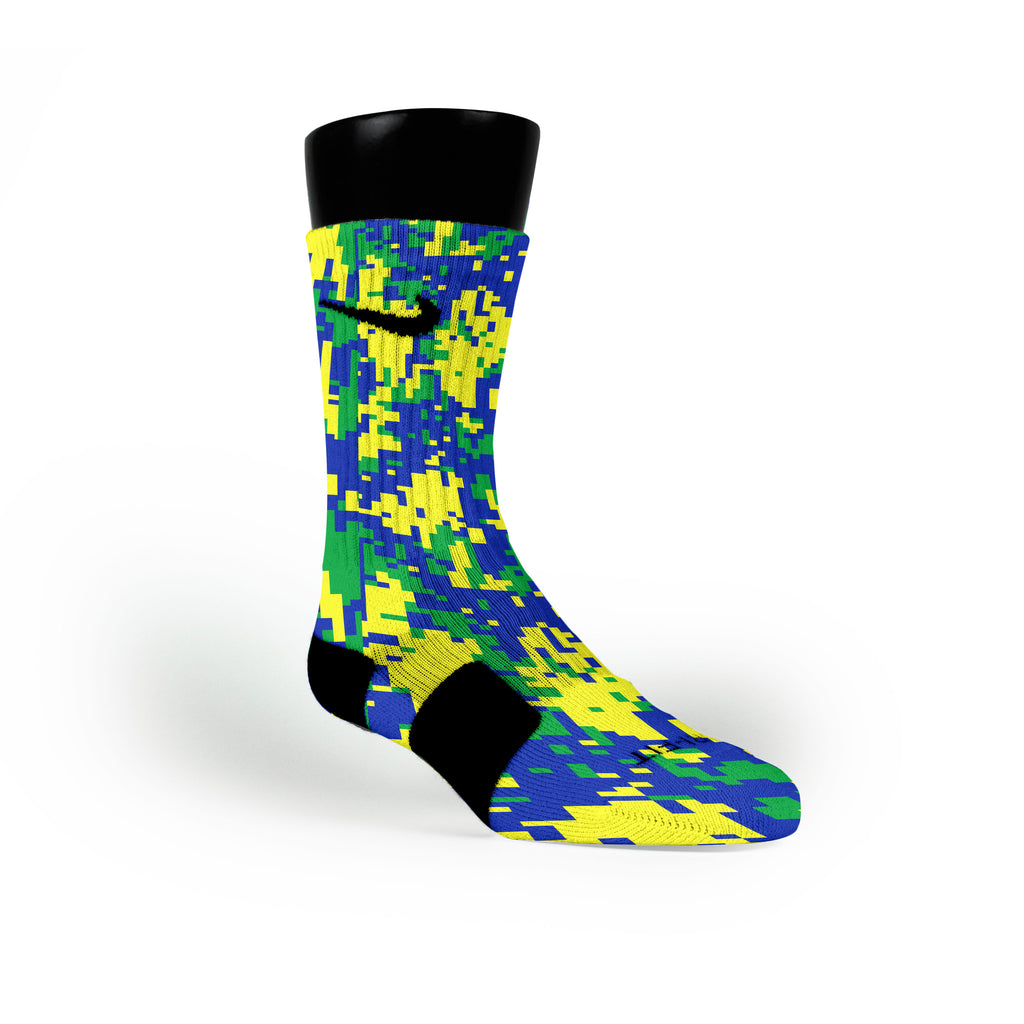 Sprite Digital Camo Custom Nike Elite Socks