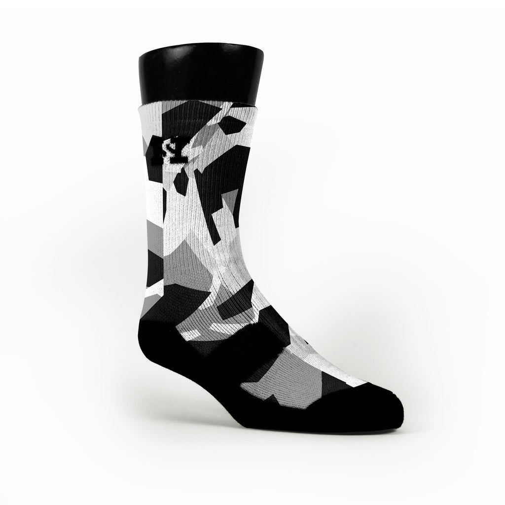Spurs Hardwood Camo Custom HoopSwagg Socks