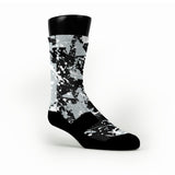 Spurs Splatter Custom HoopSwagg Socks