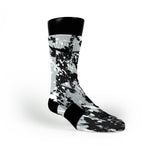 Spurs Splatter Custom Nike Elite Socks