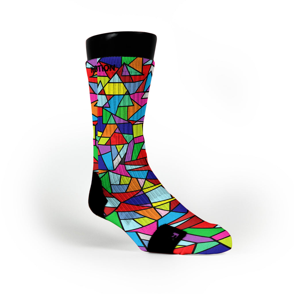 Stained Glass Custom Notion Socks